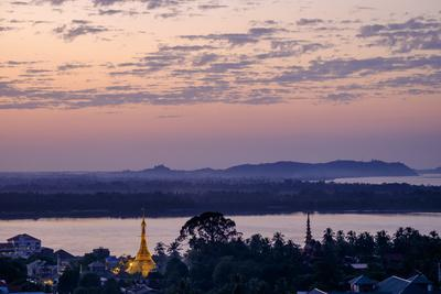 River Salouen (Thanlwin) from View Point, Mawlamyine (Moulmein), Myanmar (Burma), Asia-Nathalie Cuvelier-Photographic Print