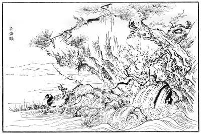 River Scene, 16th Century-Kano Motonobu-Giclee Print