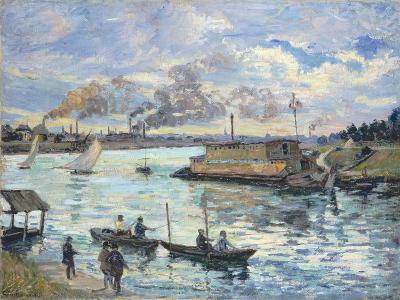 River Scene, 1890-Jean-Baptiste Armand Guillaumin-Giclee Print