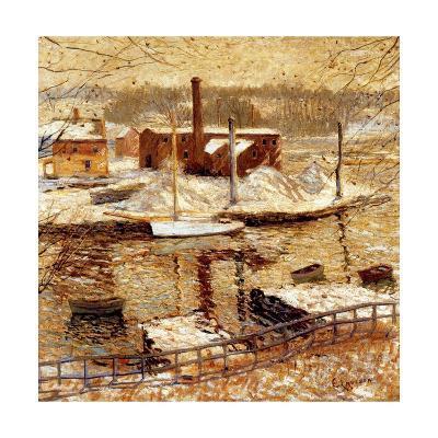 River Scene in Winter, C.1899-Ernest Lawson-Giclee Print