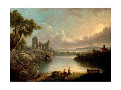 River Scene with Sea and Classical Ruins-Richard Wilson-Giclee Print