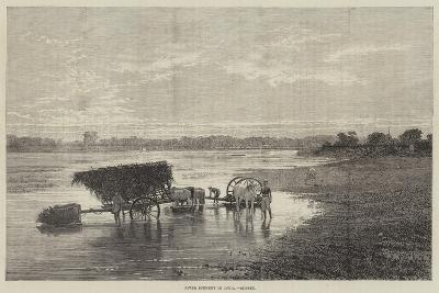 River Scenery in India, Sunset--Giclee Print