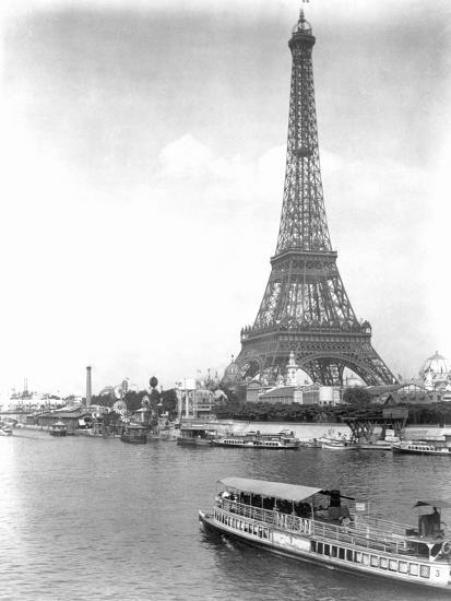 River Seine and Eiffel Tower--Photographic Print