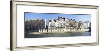 River Seine and French Townhouses-Design Pics Inc-Framed Photographic Print