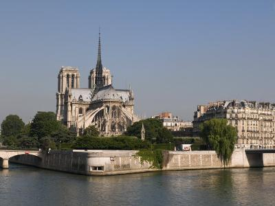 River Seine and Notre Dame Cathedral, Paris, France, Europe-Pitamitz Sergio-Photographic Print