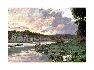 River Seine at Bougival, C1870-Claude Monet-Giclee Print