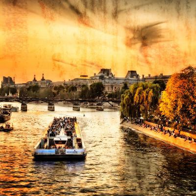 River Seine at Sunset II-Alan Hausenflock-Photo