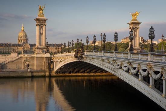 River Seine, Pont Alexandre III and Hotel les Invalides, Paris, France-Brian Jannsen-Photographic Print