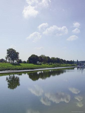 River Somme, St. Valery Sur Somme, Picardy, France-David Hughes-Photographic Print