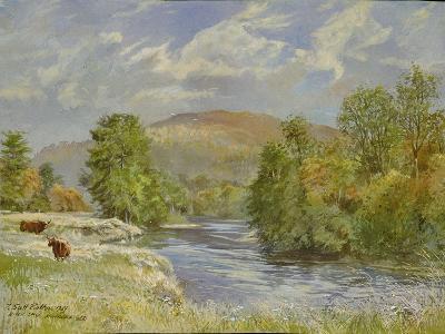 River Spey, Kinrara, 1989-Tim Scott Bolton-Giclee Print