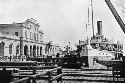 River Steamer at the Customs House, Asuncion, Paraguay, 1911--Giclee Print
