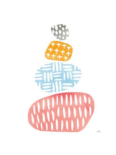 River Stones I Bright-Moira Hershey-Art Print