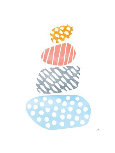 River Stones II Bright-Moira Hershey-Art Print