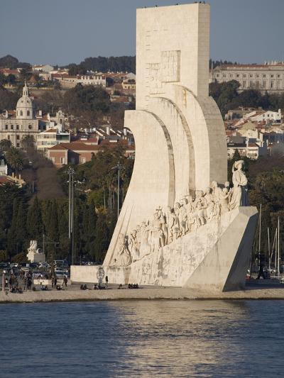 River Tagus and Monument to the Discoveries, Belem, Lisbon, Portugal, Europe-Rolf Richardson-Photographic Print