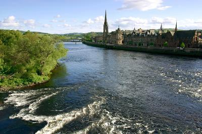 River Tay and Perth, Scotland-Peter Thompson-Photographic Print