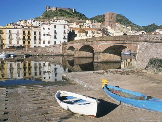River Temo, Bosa, Nuoro Province, Sardinia, Italy-Ken Gillham-Photographic Print