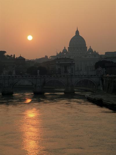 River Tiber and the Vatican, Rome, Lazio, Italy-Roy Rainford-Photographic Print
