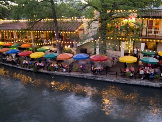 River Walk Restaurants and Cafes of Casa Rio, San Antonio, Texas-Bill Bachmann-Photographic Print