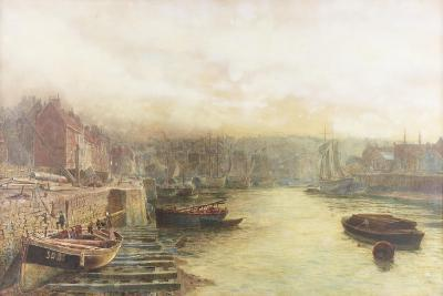 River Wear, North Bank Looking West from Customs House-Thomas Marie Madawaska Hemy-Giclee Print