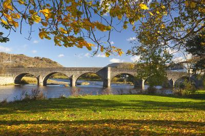 River Wye and Bridge, Builth Wells, Powys, Wales, United Kingdom, Europe-Billy Stock-Photographic Print