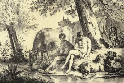 Riverbank Scene-Adriaen van de Velde-Giclee Print
