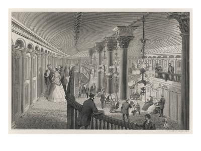 Riverboat Interior--Giclee Print