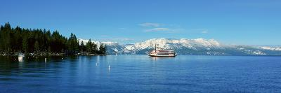 Riverboat on Lake Tahoe, California--Photographic Print