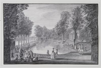 Riverside Basin, Lord Burlington's Chiswick Villa (Pen and Ink with Wash on Paper)-Jacques Rigaud-Giclee Print