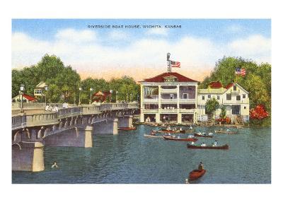 Riverside Boat House, Wichita, Kansas--Art Print