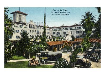 Riverside, California - Glenwood Mission Inn Court of the Birds-Lantern Press-Art Print