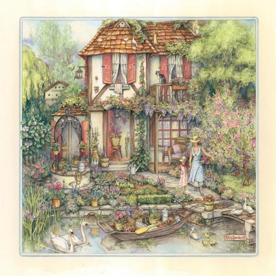 Riverside Cottage-Kim Jacobs-Giclee Print