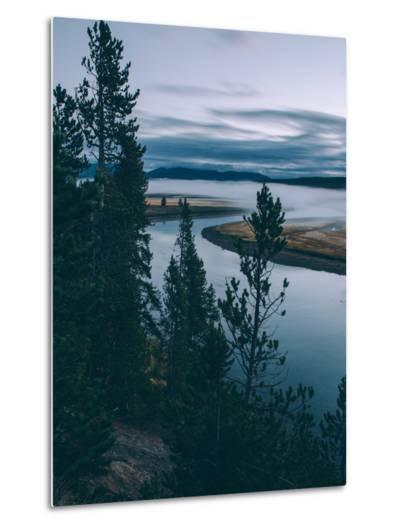 Riverside Early Morning, Yellowstone National Park-Vincent James-Metal Print