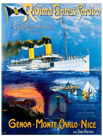 Riviera Express Service--Giclee Print