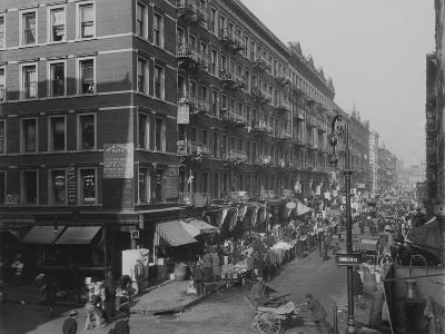 Rivington Street on New York City's Lower East Side Jewish Neighborhood in 1909--Photo
