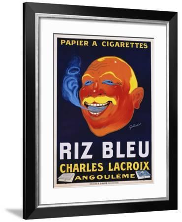 Riz Bleu - Charles Lacroix Cigarette Paper Advertisement Poster--Framed Giclee Print