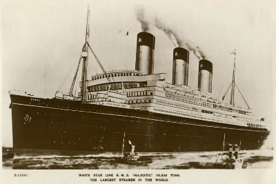 RMS Majestic, White Star Line Steamship, C1920S- Kingsway-Giclee Print