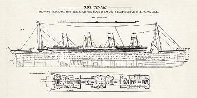 RMS Titanic-The Vintage Collection-Giclee Print