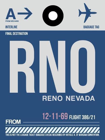 RNO Reno Luggage Tag II-NaxArt-Art Print