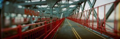 Road Across a Suspension Bridge, Williamsburg Bridge, New York City, New York State, USA