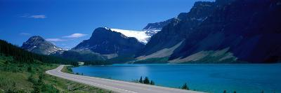 Road Along Bow Lake Alberta Canada--Photographic Print