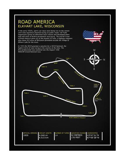 Road America BL-Mark Rogan-Giclee Print