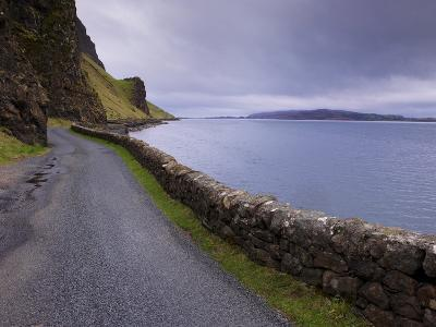 Road and Loch Na Keal, Isle of Mull, Inner Hebrides, Scotland, United Kingdom, Europe-Patrick Dieudonne-Photographic Print