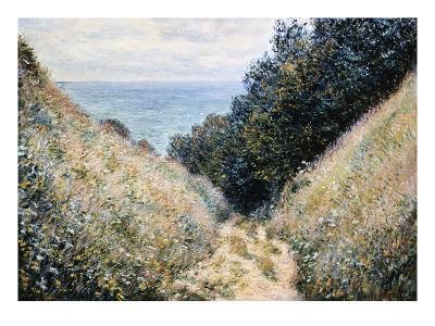 Road at La Cavee, Pourville-Claude Monet-Giclee Print