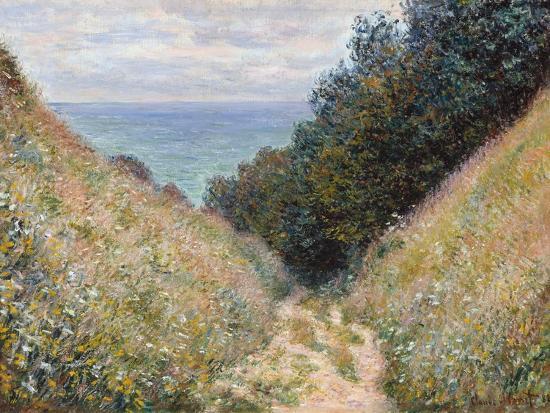 Road at La Cavée, Pourville-Claude Monet-Premium Giclee Print