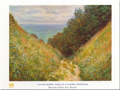 Road At La Cavee-Claude Monet-Art Print
