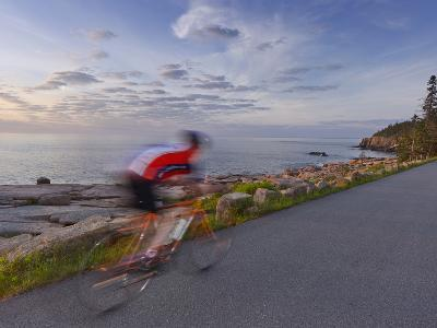 Road Bicycling in Acadia National Park, Maine, Usa-Chuck Haney-Photographic Print