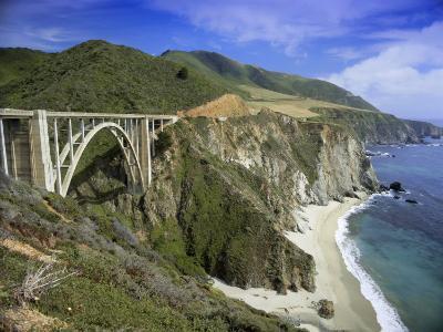 Road Bridge on Highway One Near Big Sur, California, USA-Gavin Hellier-Photographic Print