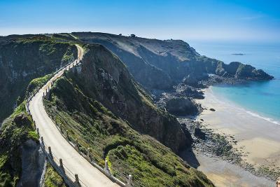 Road Connecting the Narrow Isthmus of Greater and Little Sark, Channel Islands, United Kingdom-Michael Runkel-Photographic Print