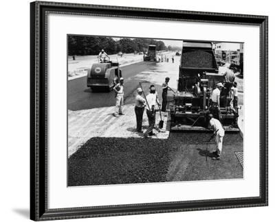Road Construction-H. Armstrong Roberts-Framed Photographic Print