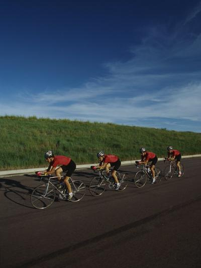 Road Cycling Team in Action--Photographic Print